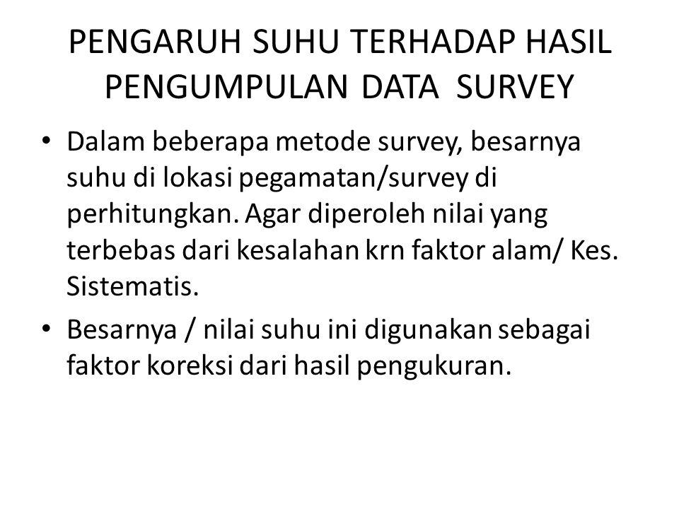 PENGARUH SUHU TERHADAP HASIL PENGUMPULAN DATA SURVEY