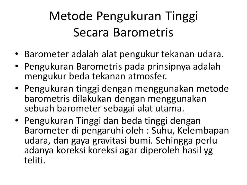Metode Pengukuran Tinggi Secara Barometris