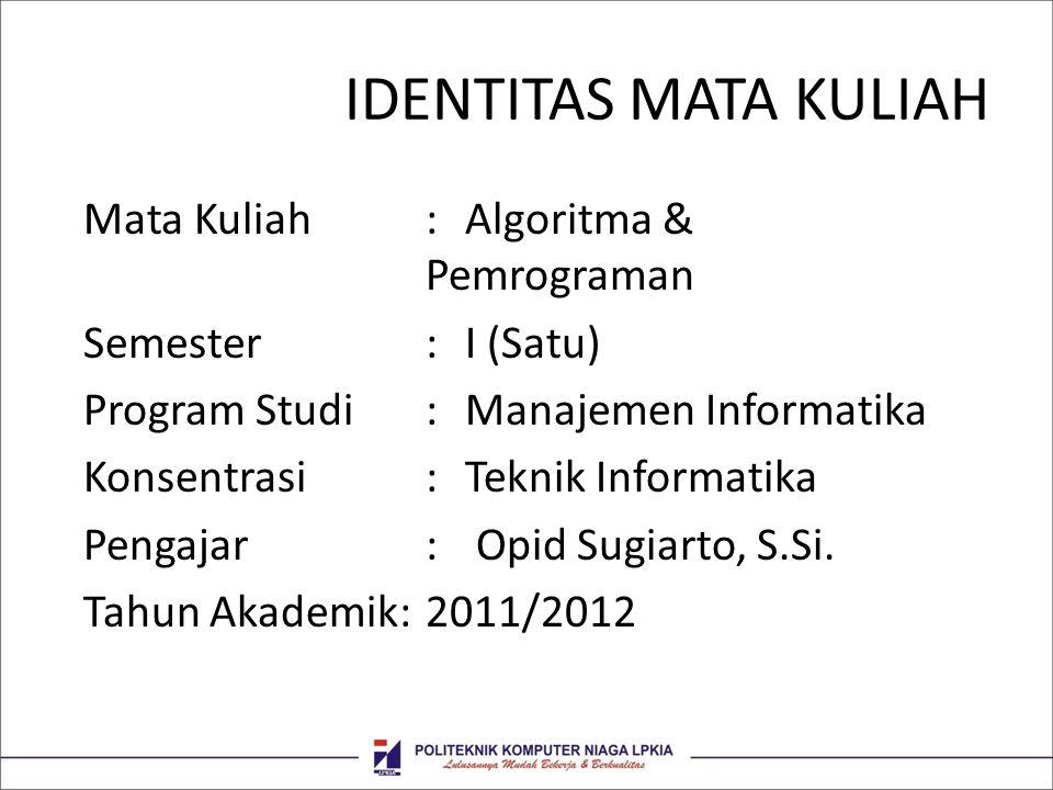 IDENTITAS MATA KULIAH