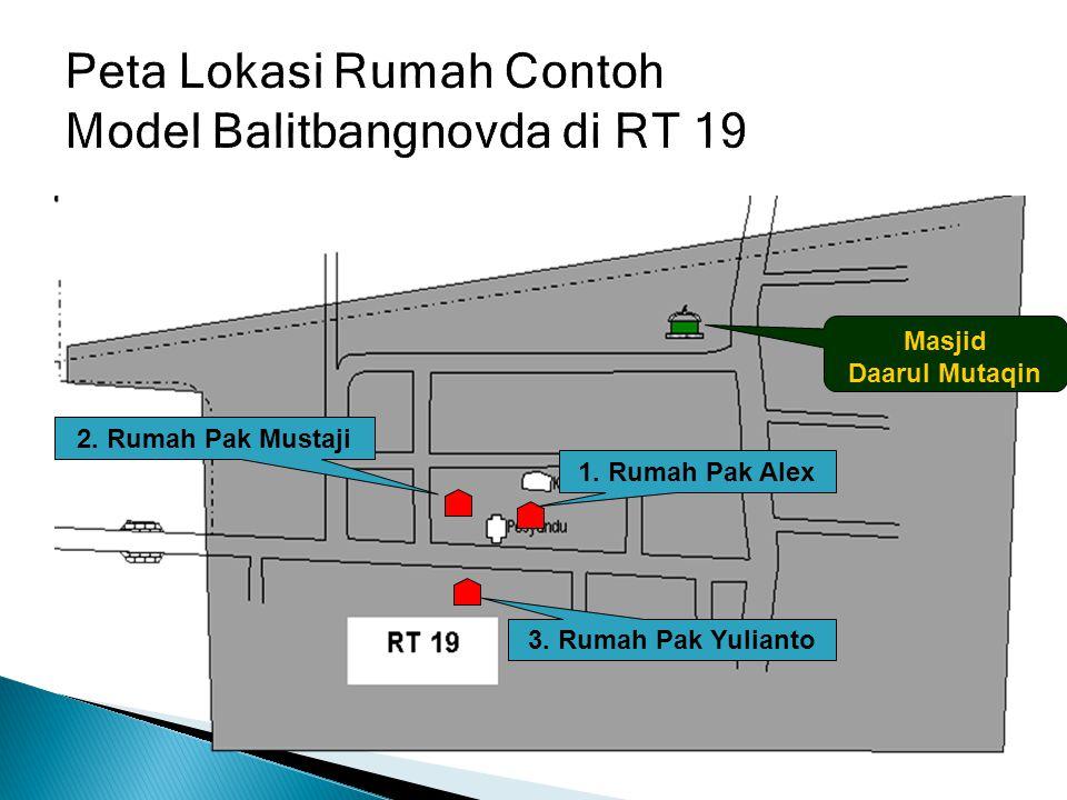 Peta Lokasi Rumah Contoh Model Balitbangnovda di RT 19