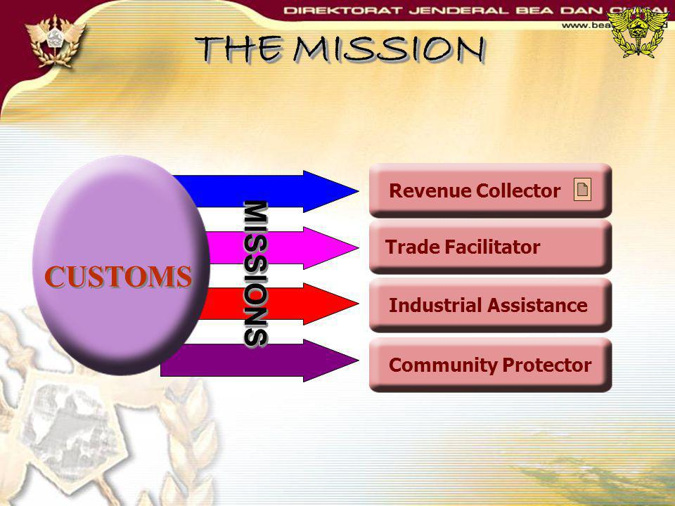 THE MISSION MISSIONS CUSTOMS Revenue Collector Trade Facilitator
