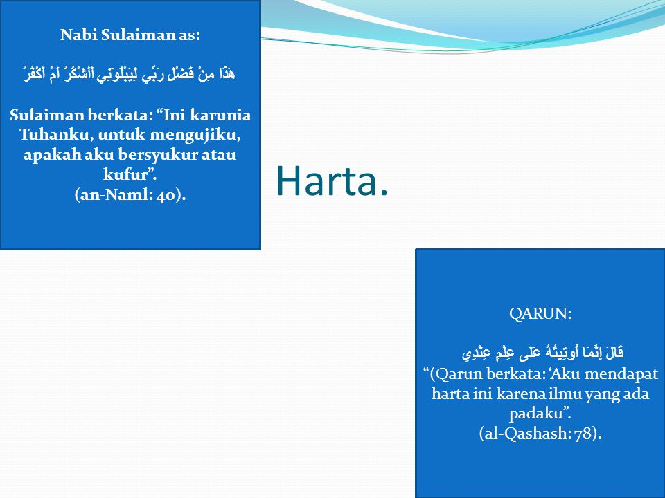 Harta. Nabi Sulaiman as: