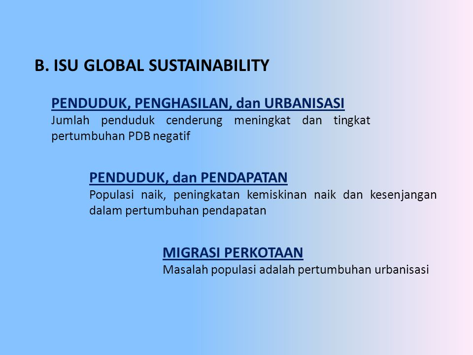 B. ISU GLOBAL SUSTAINABILITY