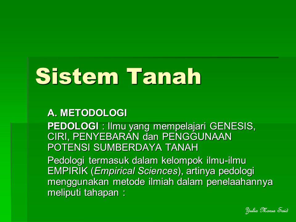 Sistem Tanah A. METODOLOGI