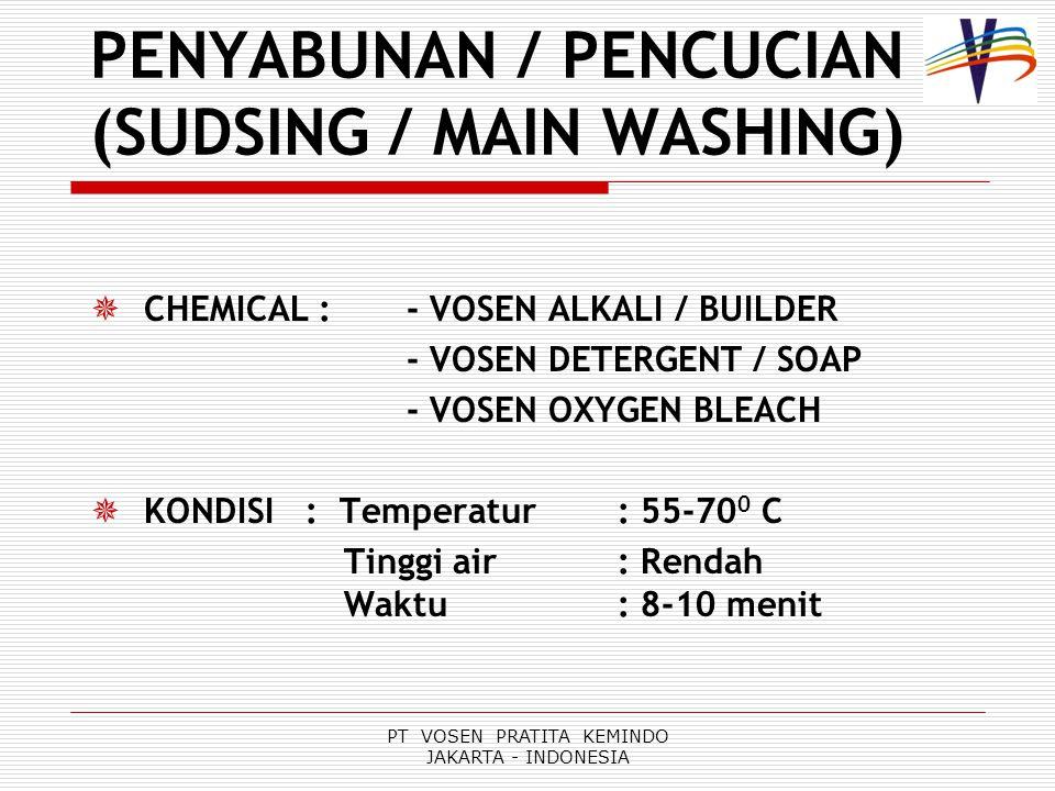 PENYABUNAN / PENCUCIAN (SUDSING / MAIN WASHING)