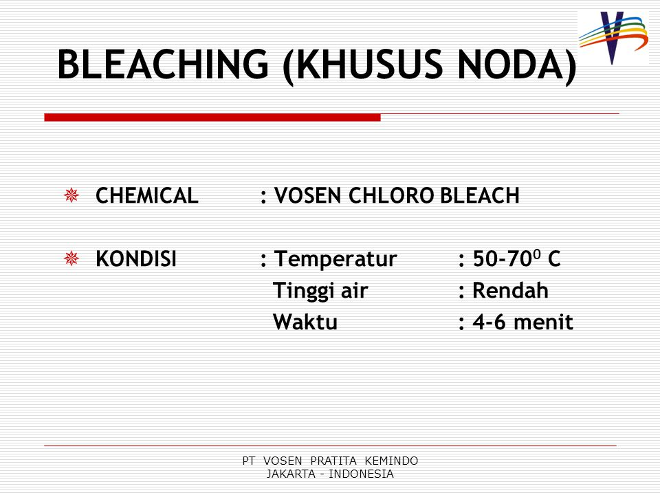 BLEACHING (KHUSUS NODA)