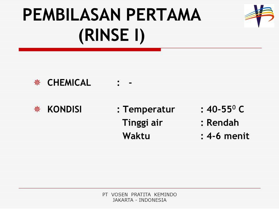 PEMBILASAN PERTAMA (RINSE I)