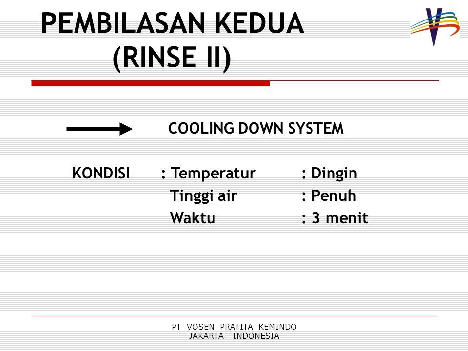 PEMBILASAN KEDUA (RINSE II)