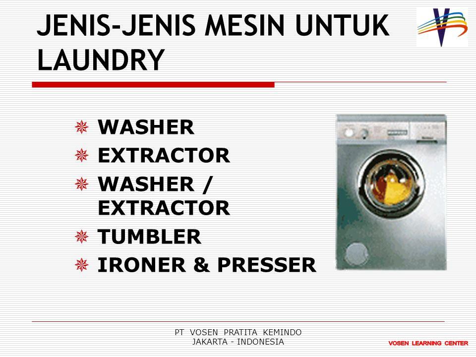 JENIS-JENIS MESIN UNTUK LAUNDRY