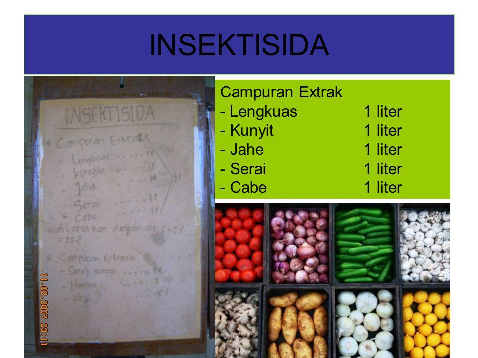 INSEKTISIDA Campuran Extrak - Lengkuas 1 liter Kunyit 1 liter