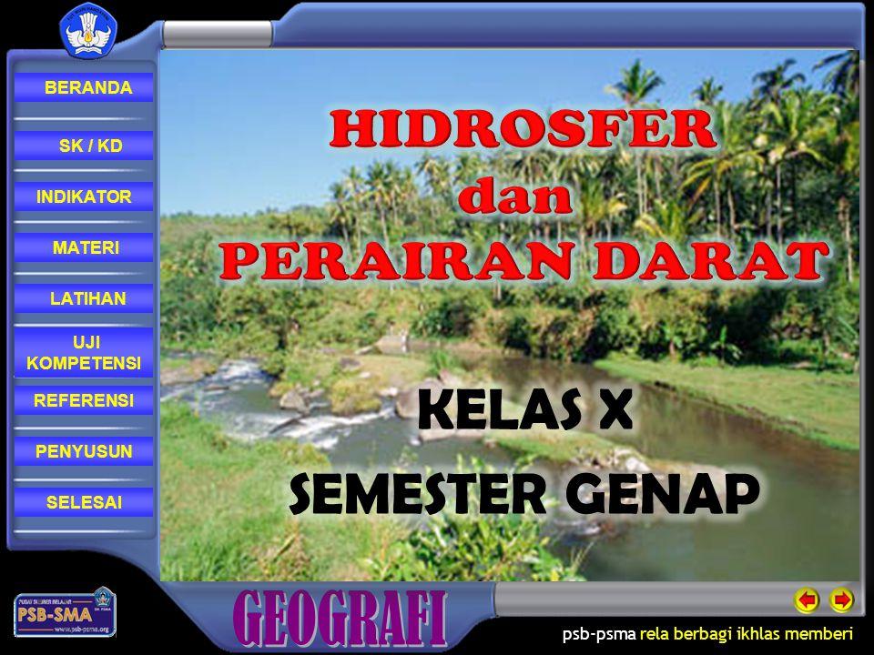 HIDROSFER dan PERAIRAN DARAT KELAS X SEMESTER GENAP