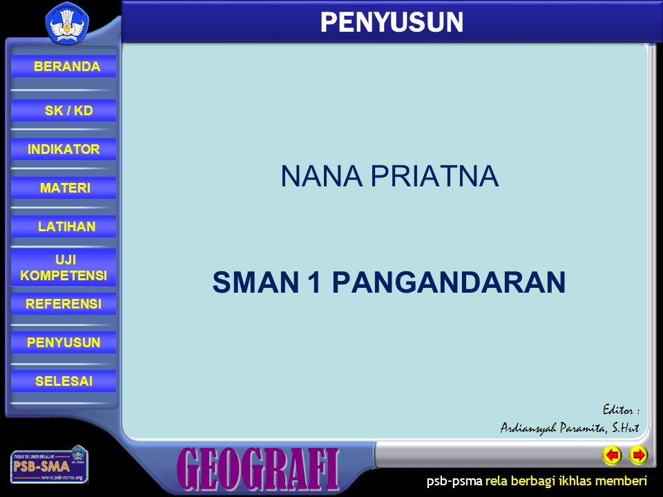 PENYUSUN NANA PRIATNA SMAN 1 PANGANDARAN Editor :