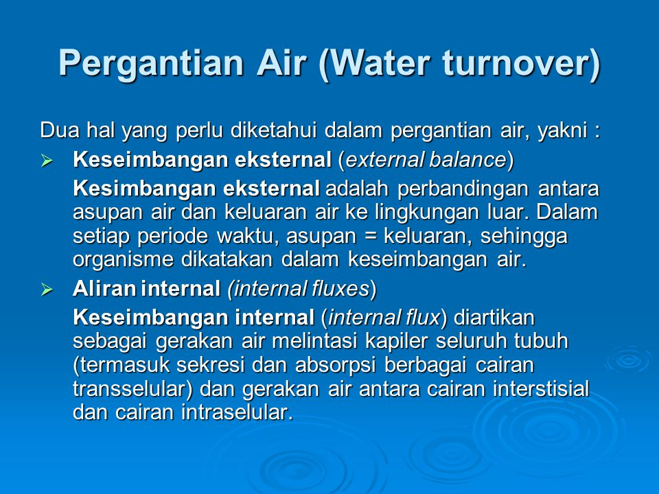 Pergantian Air (Water turnover)