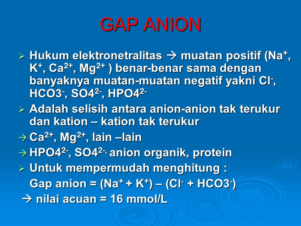 GAP ANION
