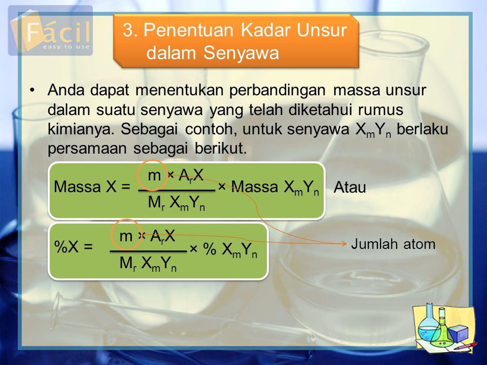 3. Penentuan Kadar Unsur dalam Senyawa