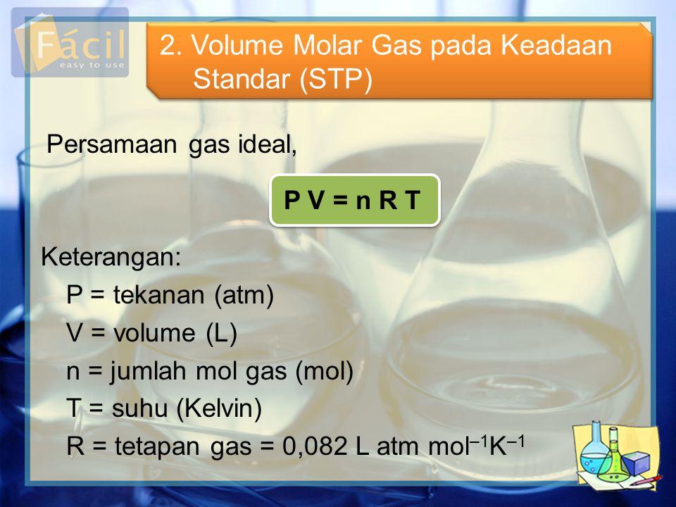 2. Volume Molar Gas pada Keadaan Standar (STP)