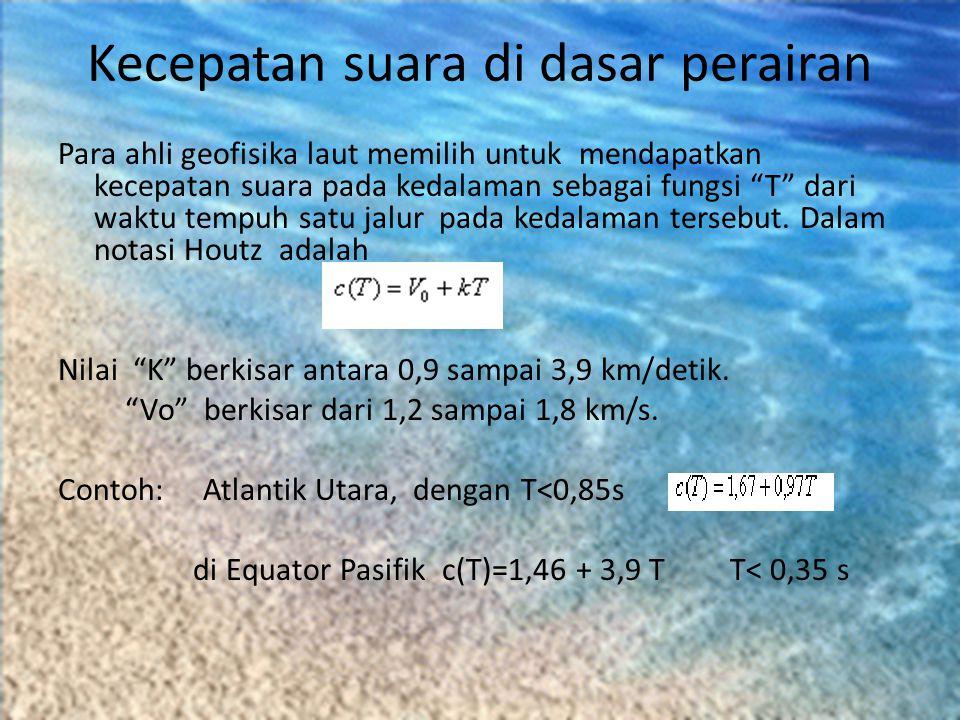 Kecepatan suara di dasar perairan