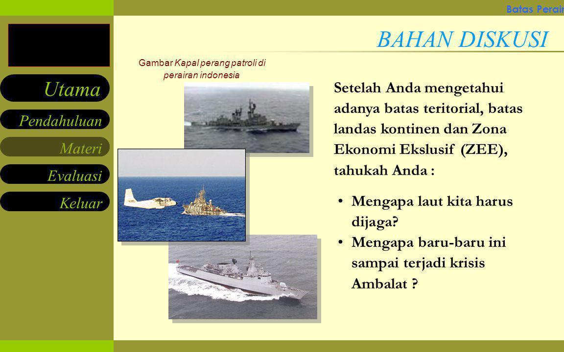 Gambar Kapal perang patroli di perairan indonesia