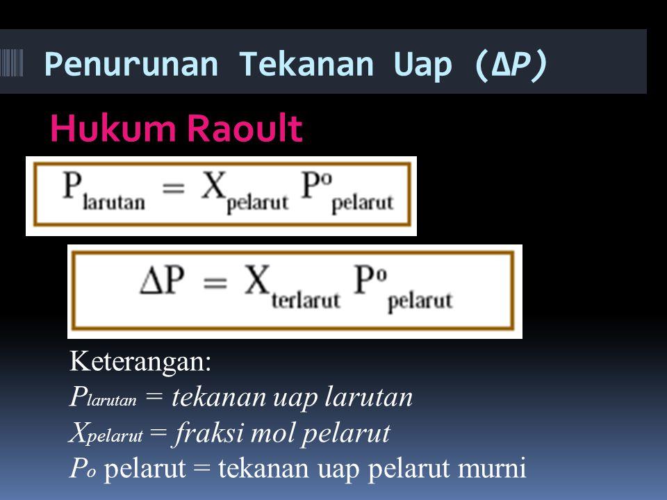 Penurunan Tekanan Uap (ΔP)