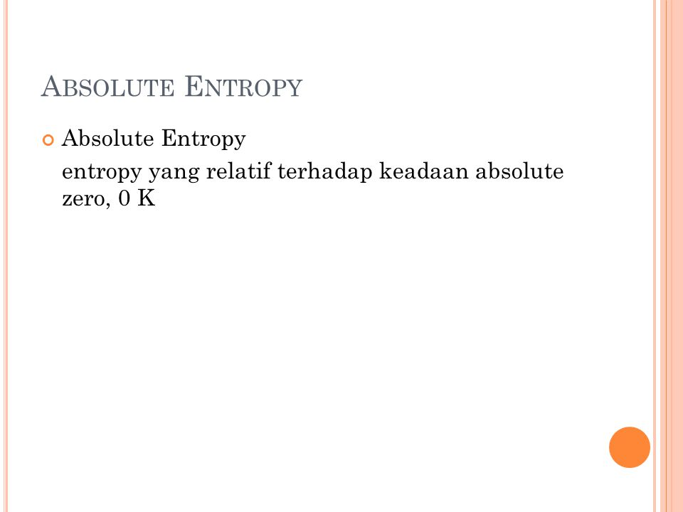 Absolute Entropy Absolute Entropy