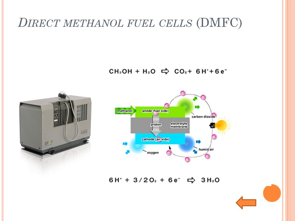 Direct methanol fuel cells (DMFC)