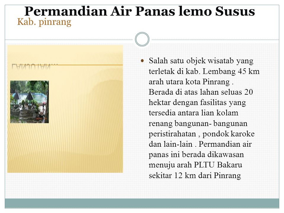 Permandian Air Panas lemo Susus