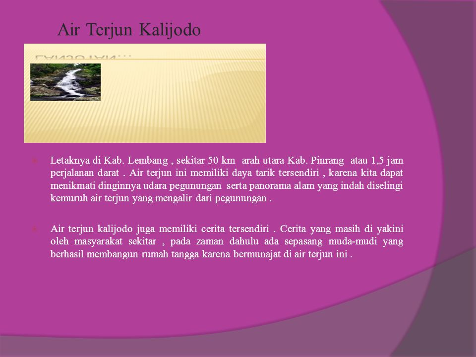 Air Terjun Kalijodo