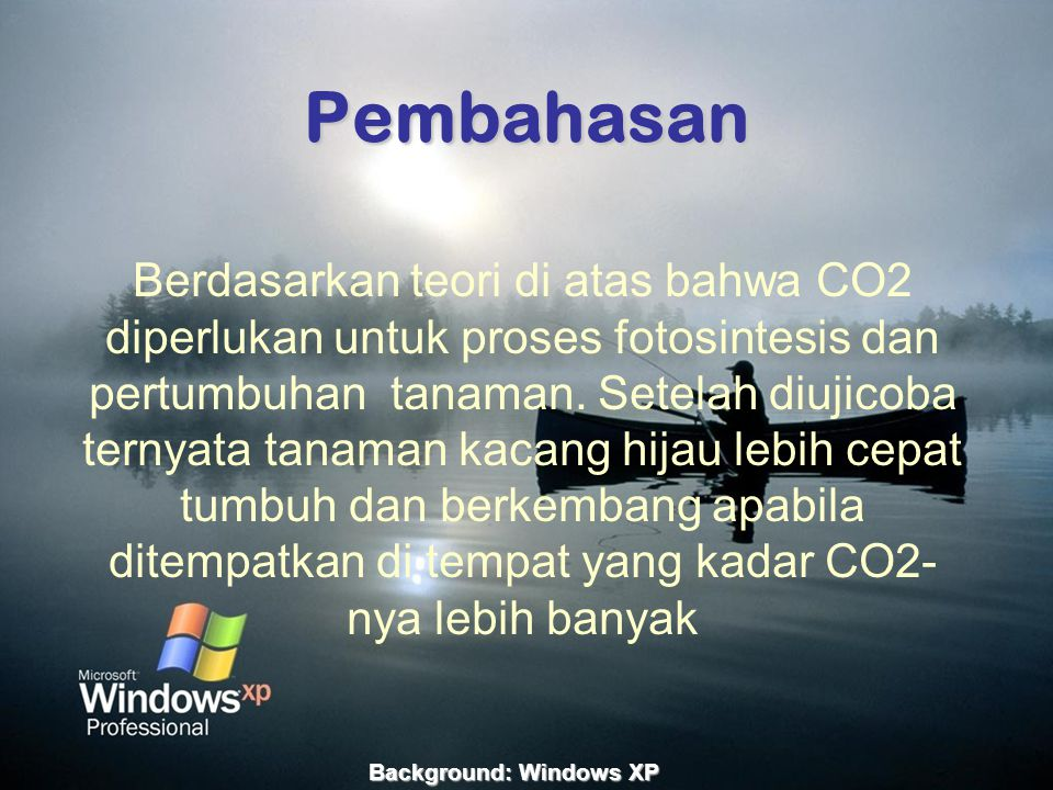 Background: Windows XP
