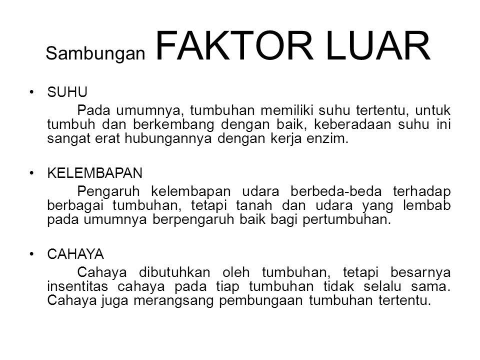 Sambungan FAKTOR LUAR SUHU