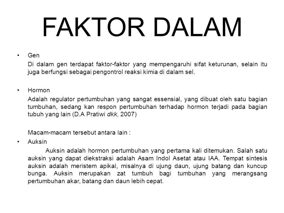 FAKTOR DALAM Gen.