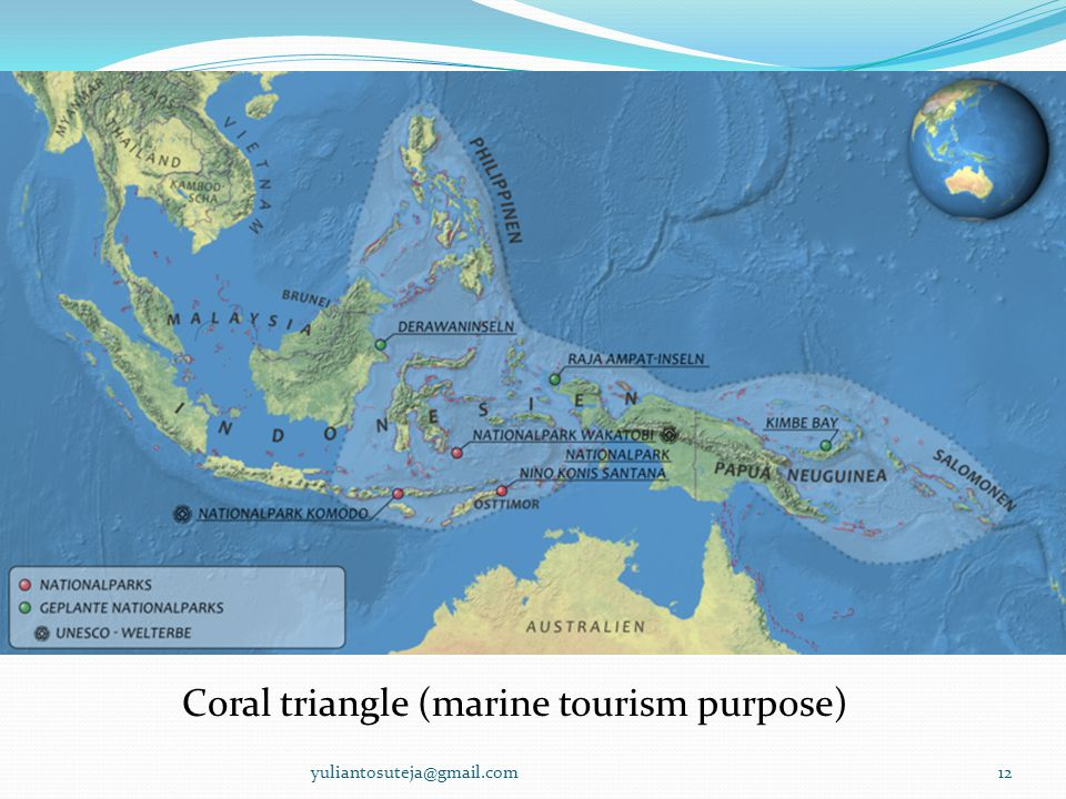 Coral triangle (marine tourism purpose)