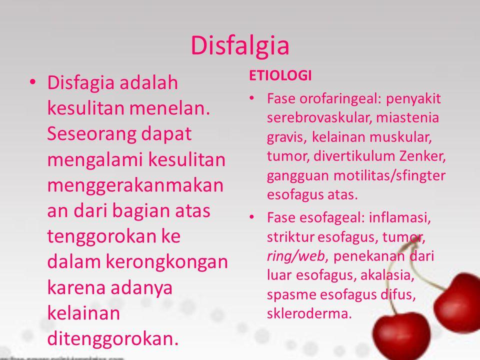 Disfalgia ETIOLOGI.