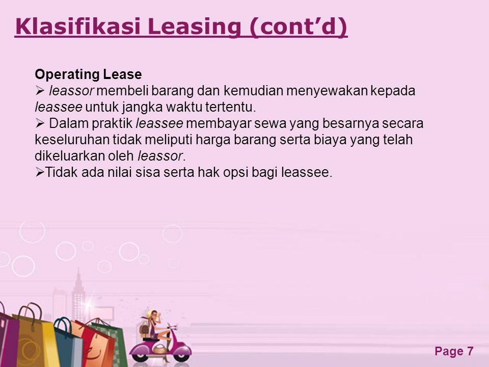 Klasifikasi Leasing (cont'd)