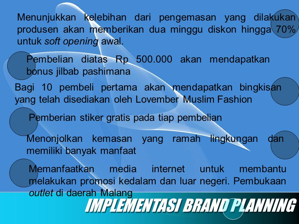 IMPLEMENTASI BRAND PLANNING