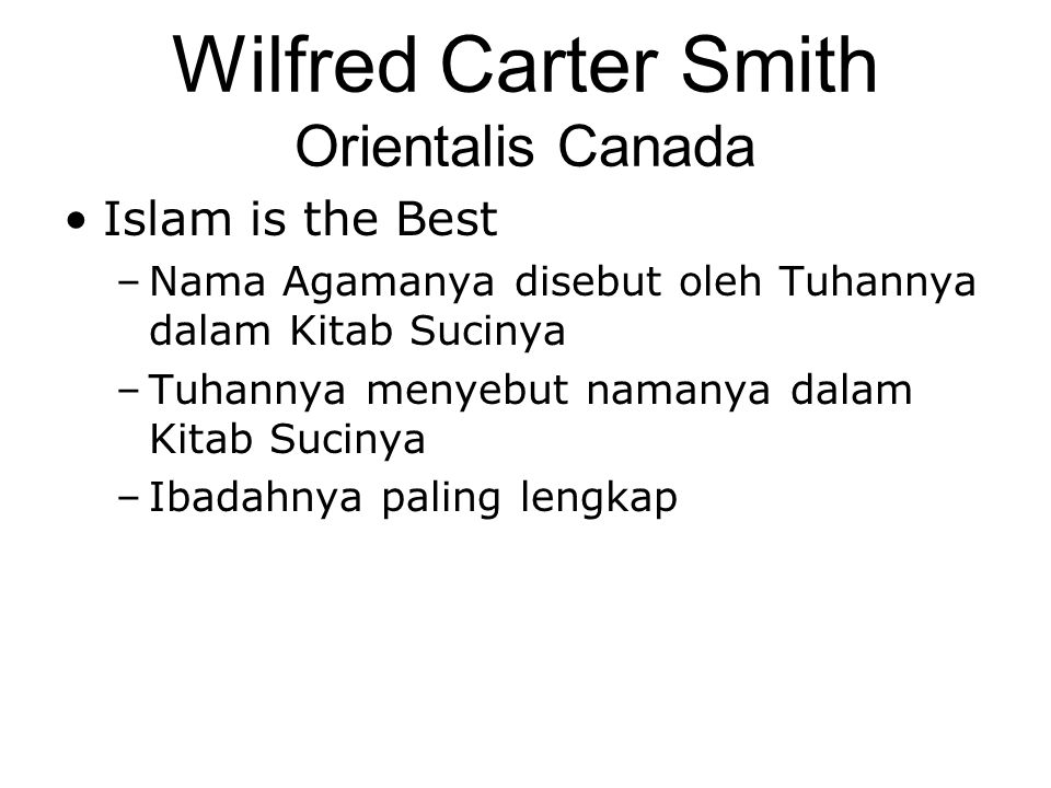 Wilfred Carter Smith Orientalis Canada