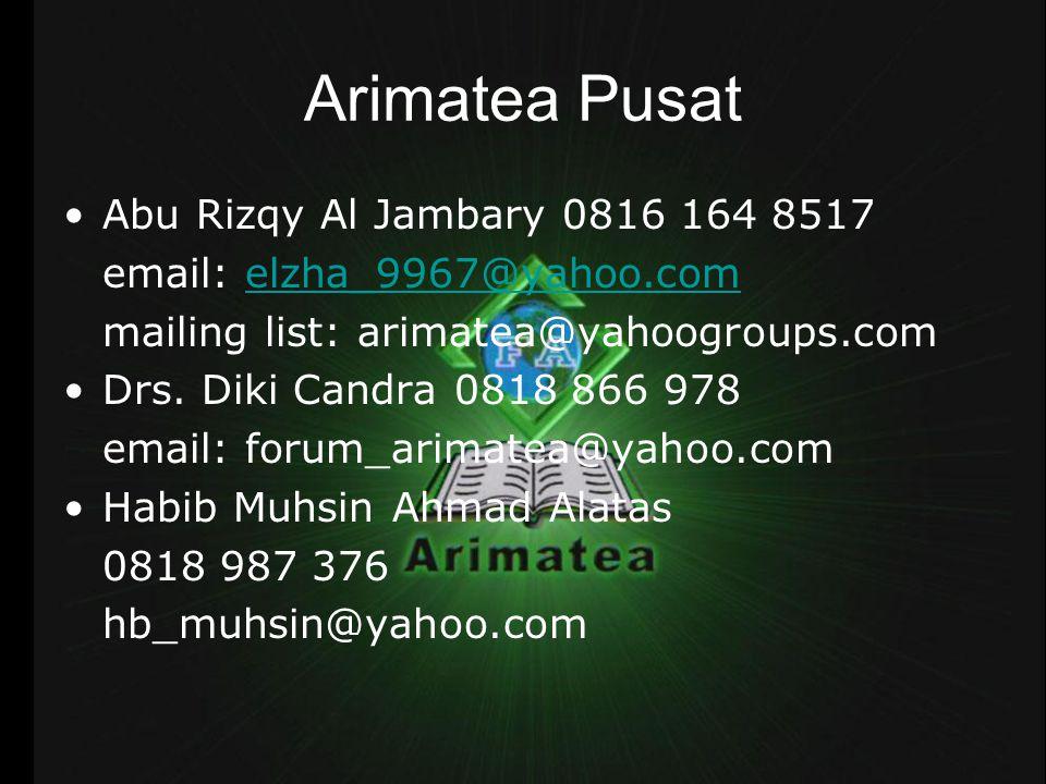Arimatea Pusat Abu Rizqy Al Jambary 0816 164 8517