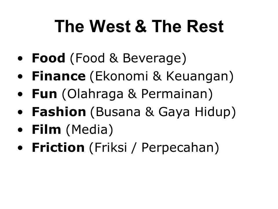 The West & The Rest Food (Food & Beverage)