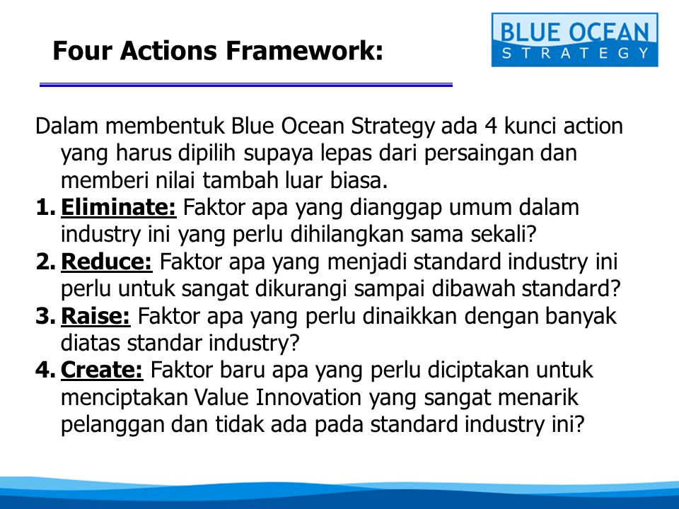 Four Actions Framework: