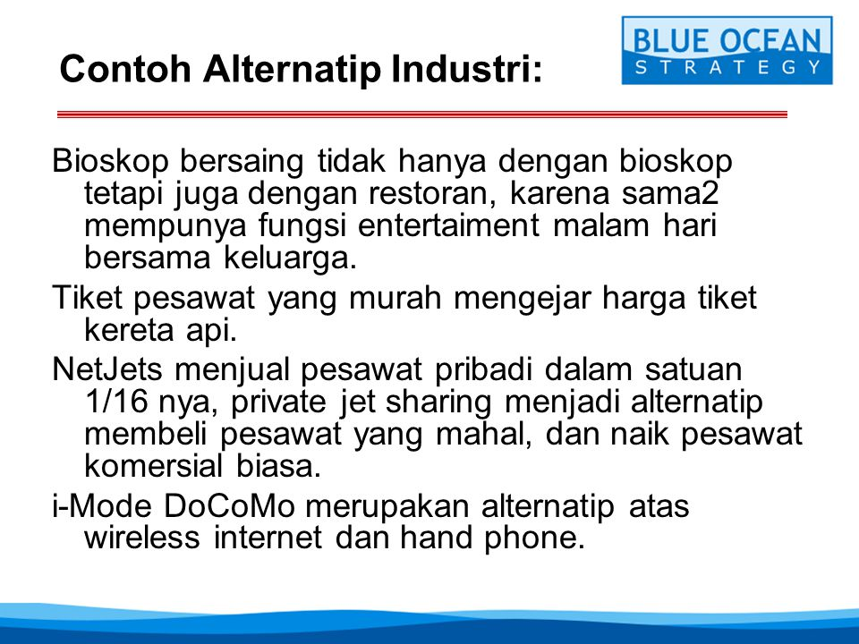 Contoh Alternatip Industri:
