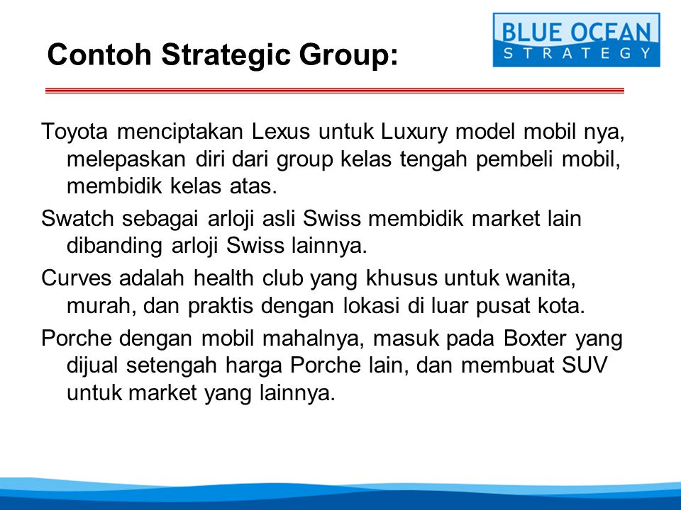 Contoh Strategic Group: