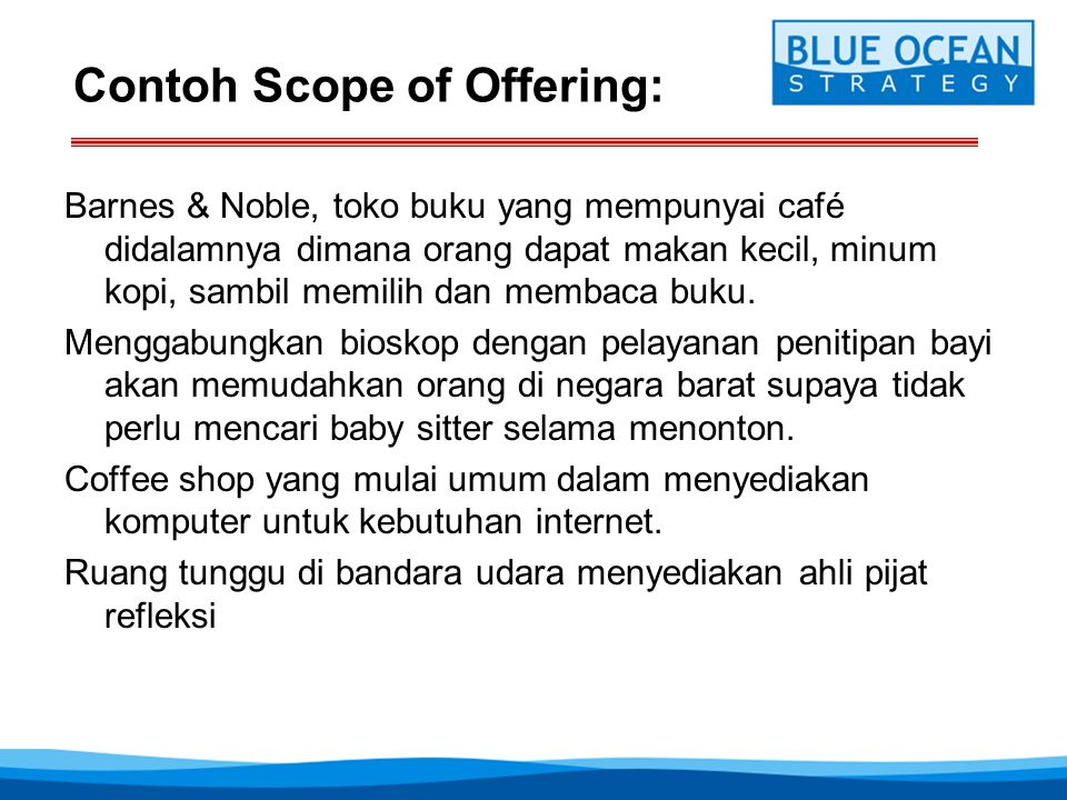 Contoh Scope of Offering: