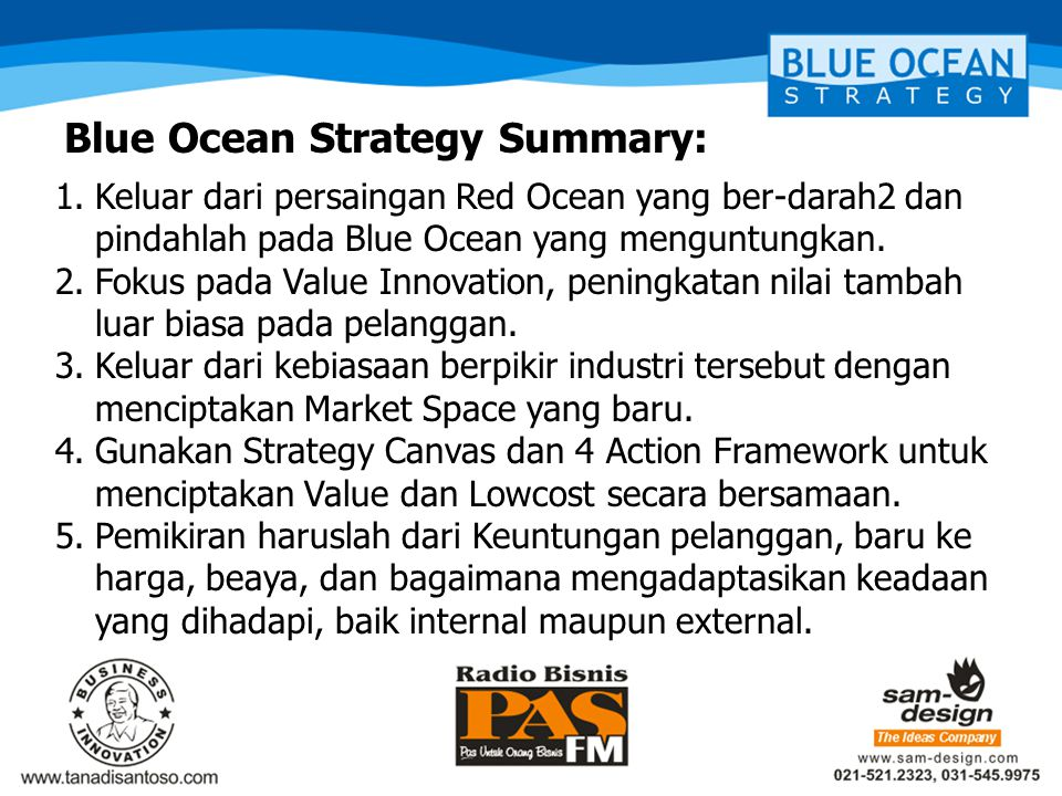 Blue Ocean Strategy Summary:
