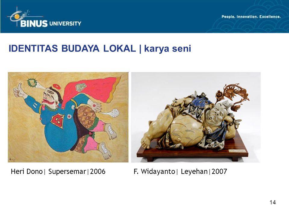 IDENTITAS BUDAYA LOKAL | karya seni