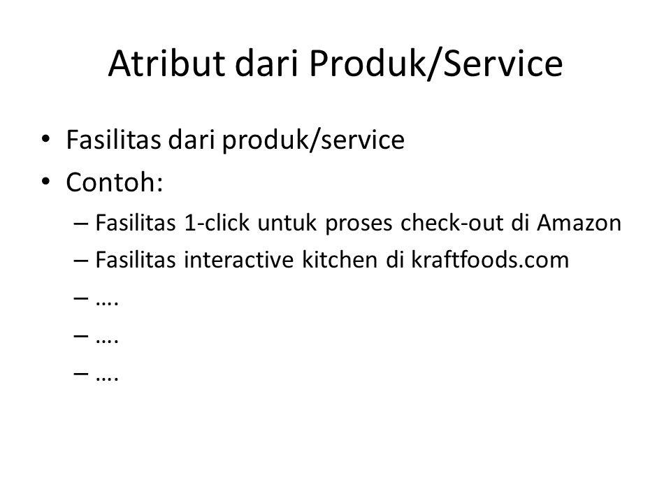 Atribut dari Produk/Service