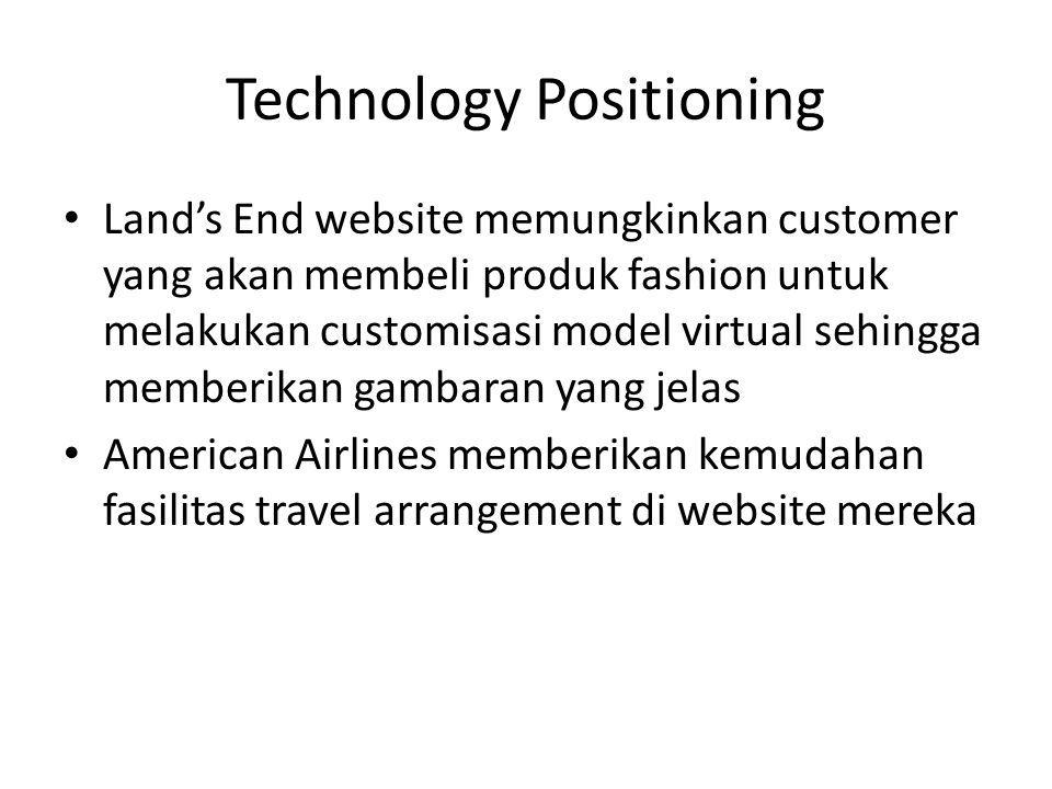 Technology Positioning