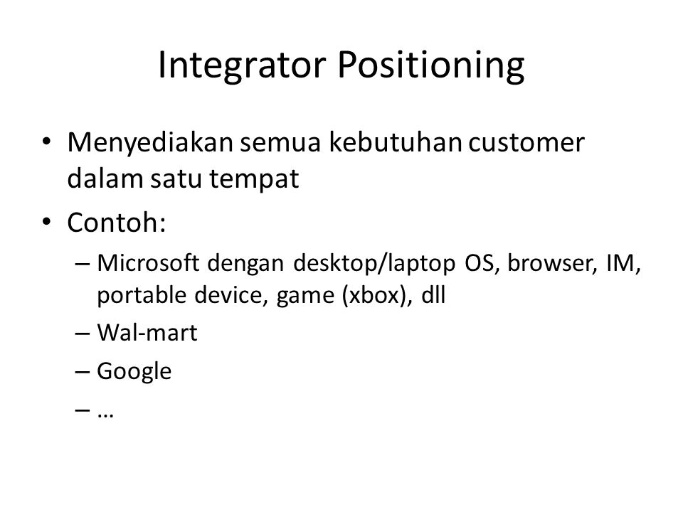 Integrator Positioning