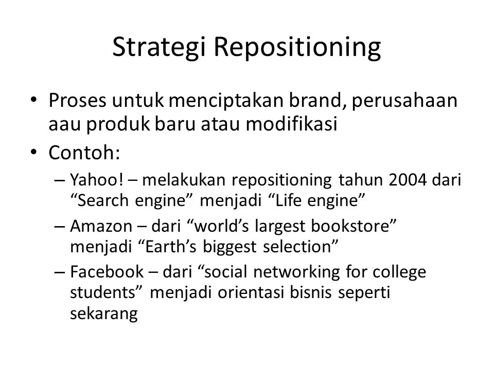 Strategi Repositioning