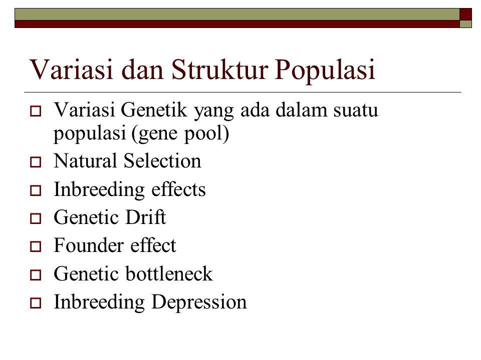Variasi dan Struktur Populasi