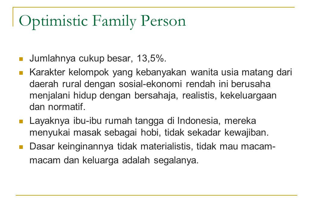 Optimistic Family Person