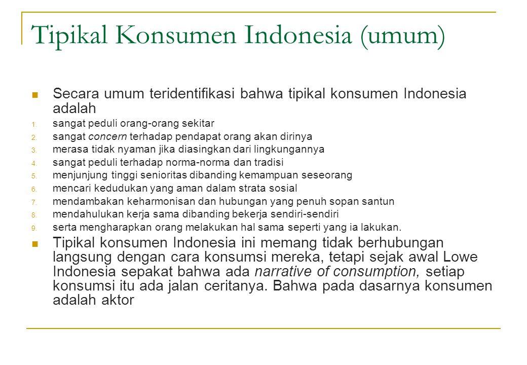 Tipikal Konsumen Indonesia (umum)